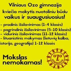 Nuotolinis mokymas Vilniaus Ozo gimnazijoje