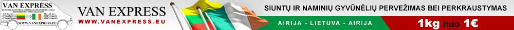 VAN EXPRESS kroviniu ir siuntu pervezimas Lietuva-Airija-Lietuva