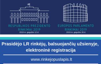 Prasidėjo rinkėjų, gyvenančių užsienyje elektroninė registracija